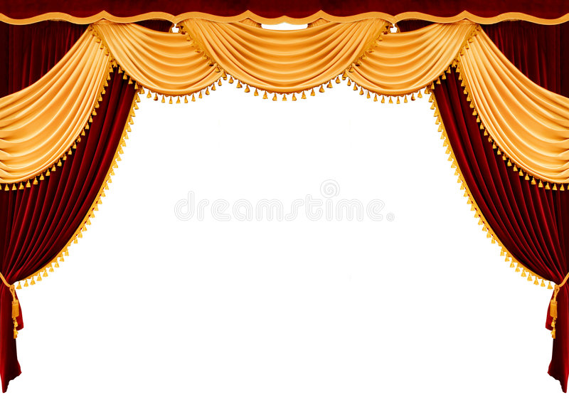 Cortina vermelha do teatro ilustração do vetor