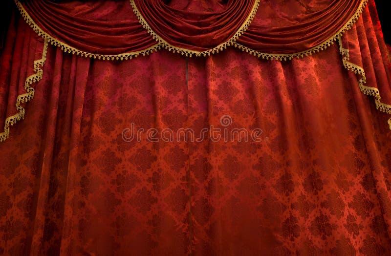 Cortina vermelha do teatro imagem de stock