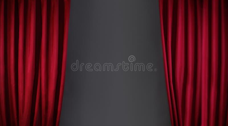 A cortina vermelha ou drapeja foto de stock royalty free