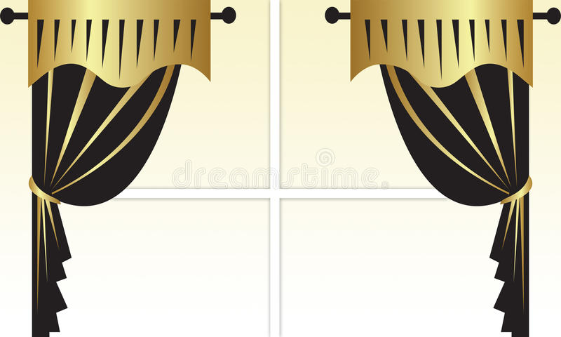 Cortinas ilustração royalty free