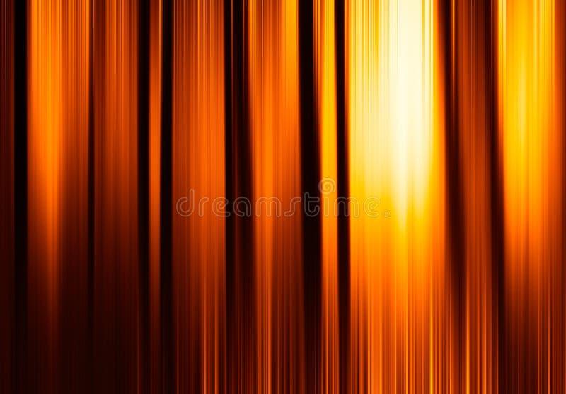 Cortinas anaranjadas verticales de la falta de definición de movimiento con el fondo del resplandor imágenes de archivo libres de regalías