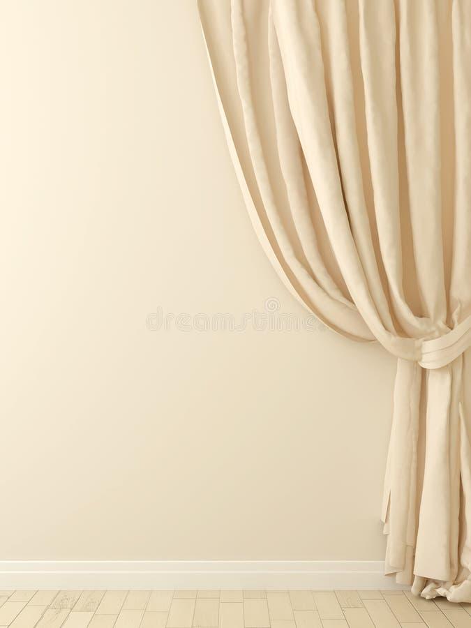 download cortinas contra una pared beige foto de archivo imagen de diseo composicin - Cortinas Beige