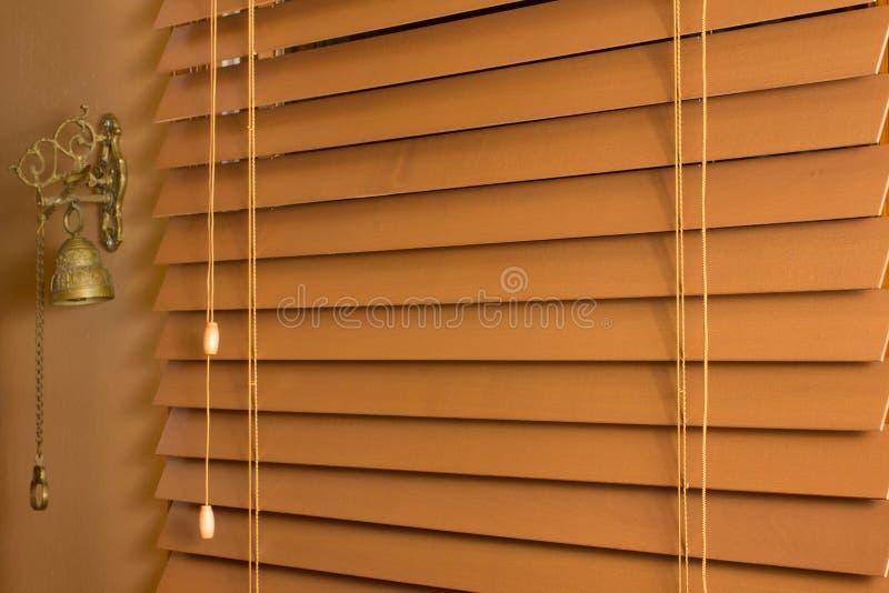 Cortinas da madeira imagens de stock