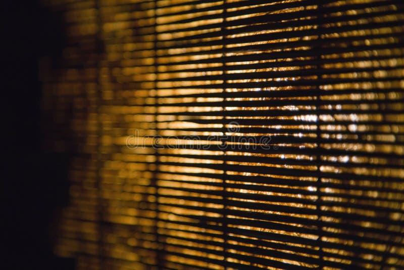 Cortinas de bambú. imagen de archivo