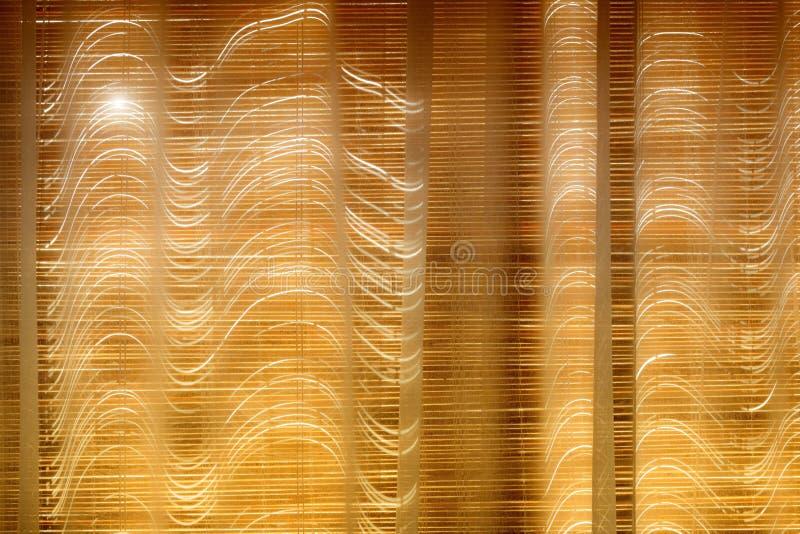 Cortinas de bambu fechados imagens de stock