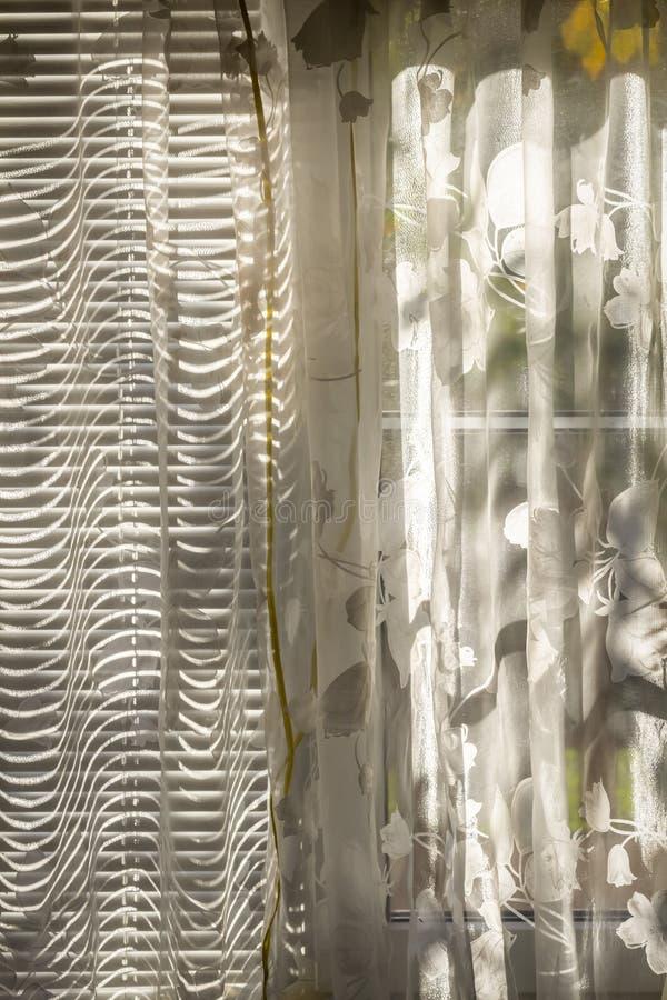 Cortinas de janelas fechados foto de stock