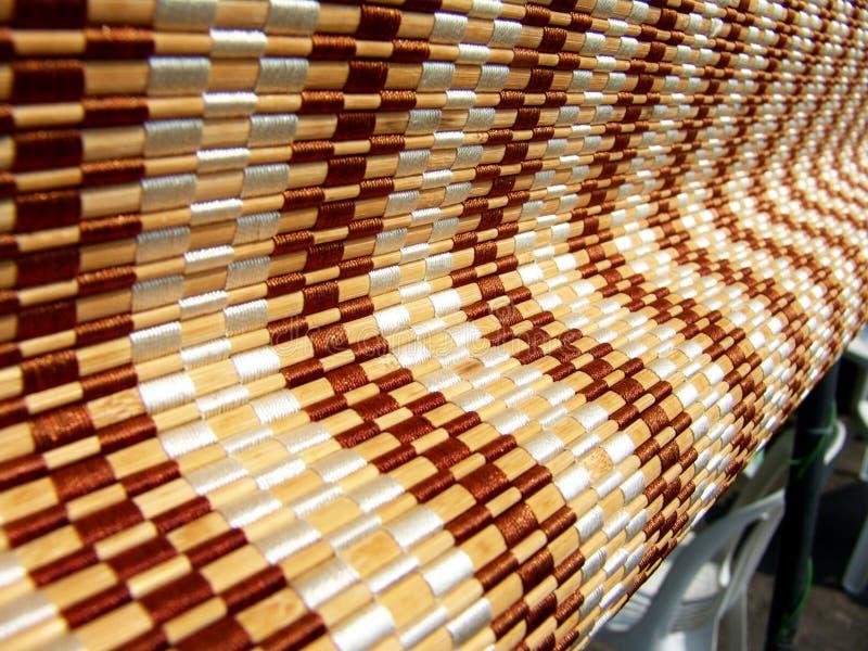 Cortinas de rolo de madeira fotografia de stock royalty free