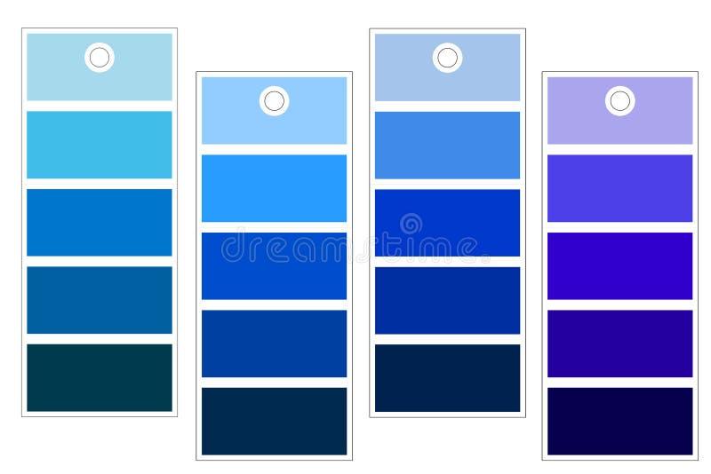 Cortinas del azul ilustración del vector