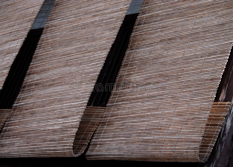 Cortinas Do Bambu De Gion Fotografia de Stock Royalty Free