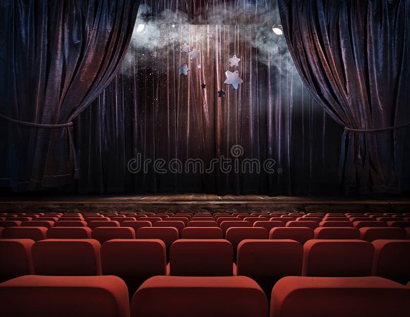 Cortinas do teatro ilustração do vetor