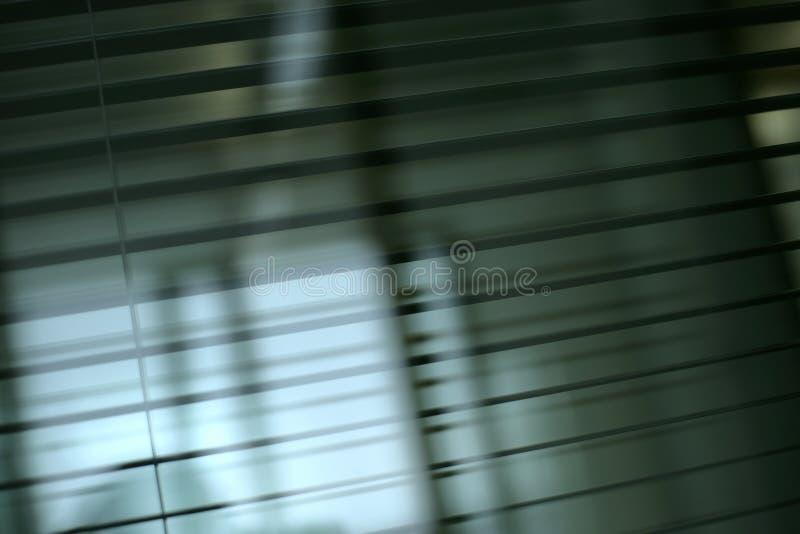 Cortinas do escritório foto de stock