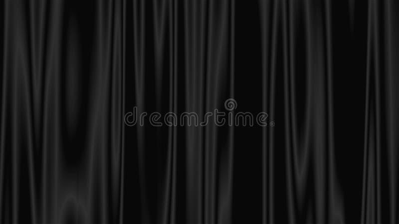 Cortinas para la etapa, teatro, ejemplo moderno de la representación 3d, contexto generado por ordenador stock de ilustración