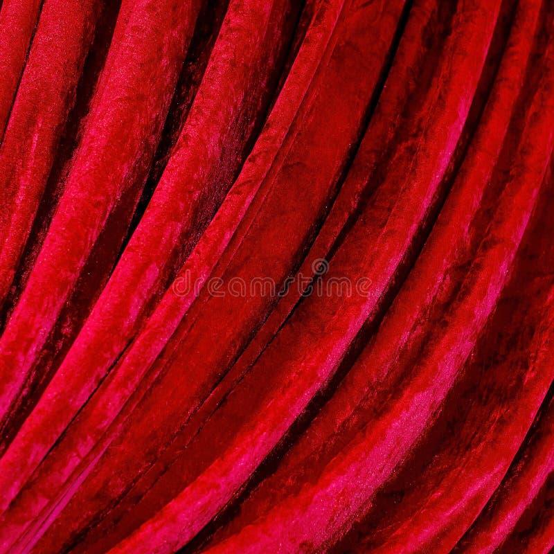 Cortinas rojas fotos de archivo libres de regalías