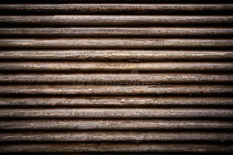 Cortinas velhas feitas da madeira imagem de stock
