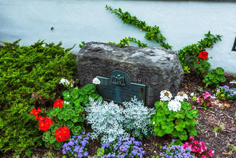 Cortland NY: Corthouse parkerar royaltyfri fotografi