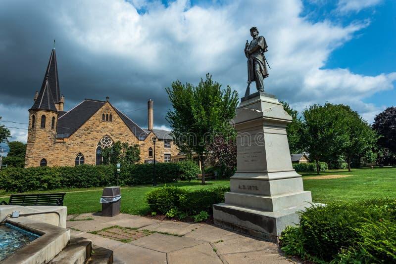 Cortland, NY: Corthousepark royalty-vrije stock foto