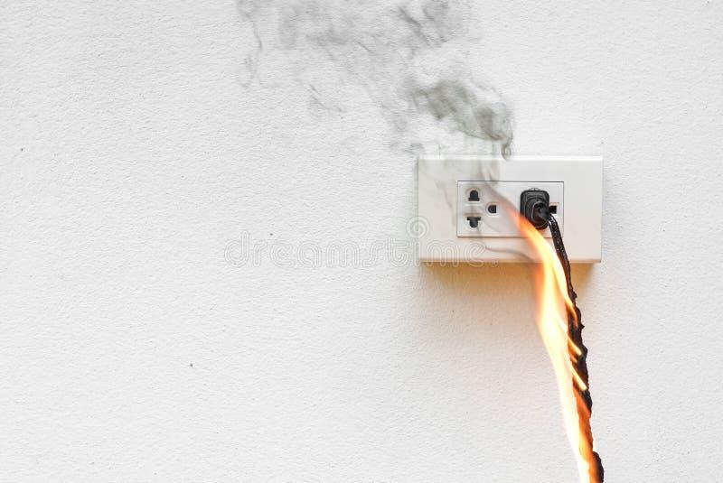 Cortocircuito di elettricità fotografia stock