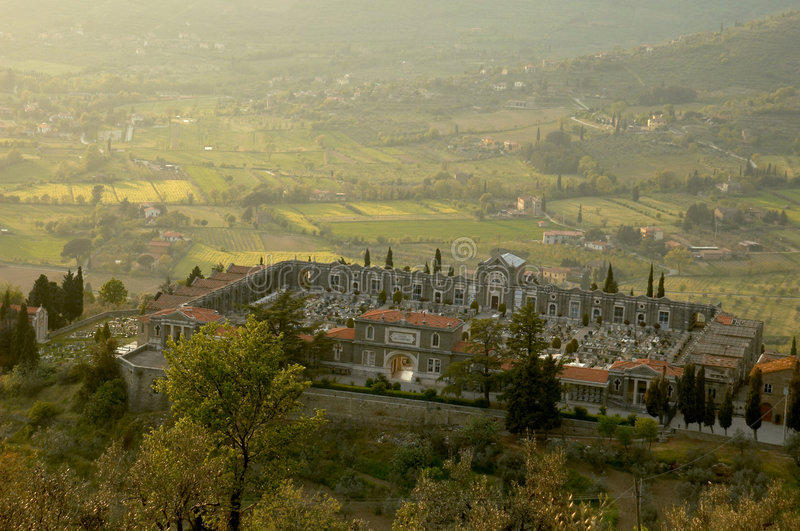 cortona Ιταλία νεκροταφείων στοκ φωτογραφίες με δικαίωμα ελεύθερης χρήσης