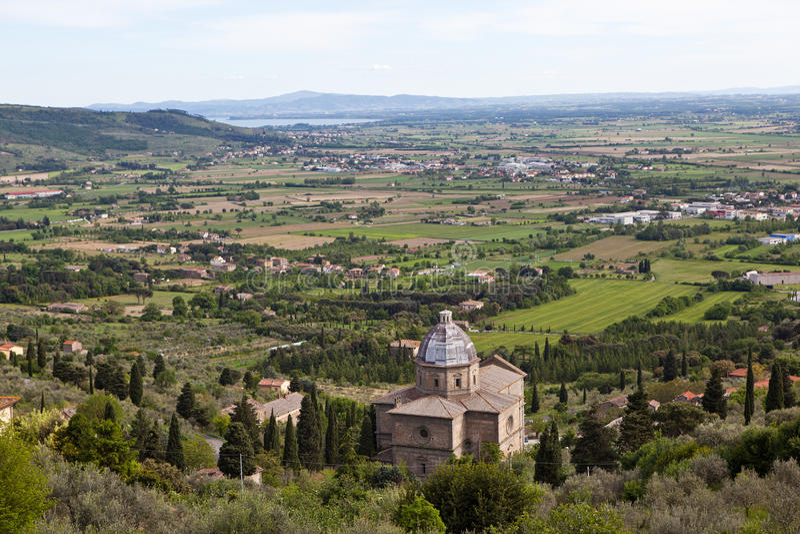 Cortona Ιταλία Τοπίο Umbrian στοκ φωτογραφίες με δικαίωμα ελεύθερης χρήσης