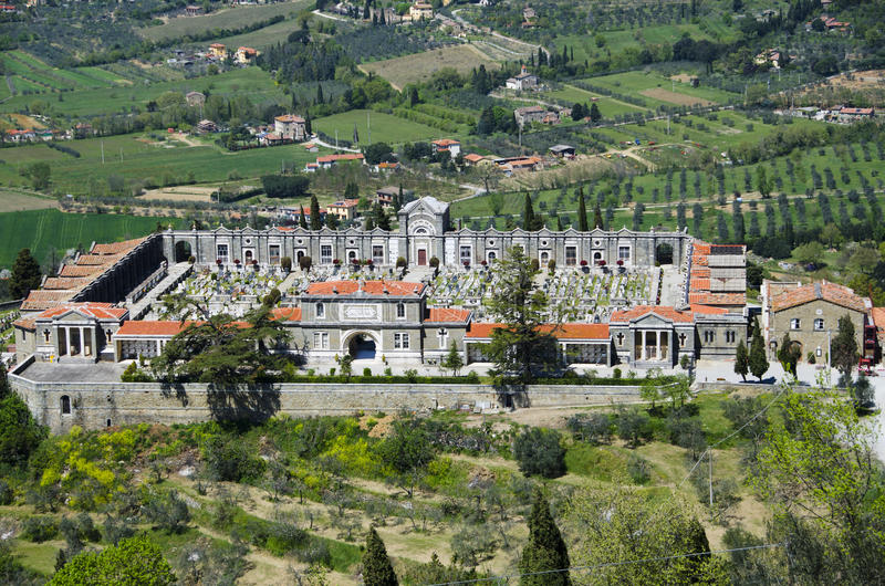 Cortona, νεκροταφείο της Ιταλίας στοκ φωτογραφία με δικαίωμα ελεύθερης χρήσης