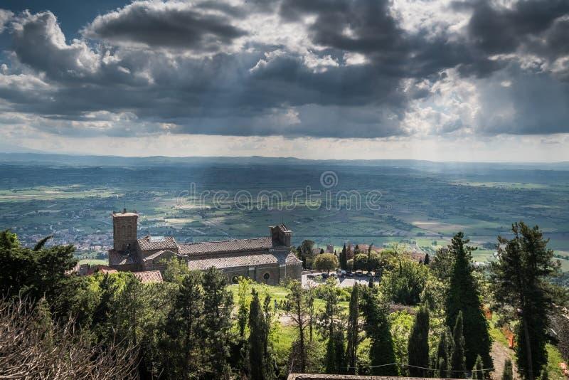 Cortona, Ареццо, Тоскана - Италия стоковая фотография