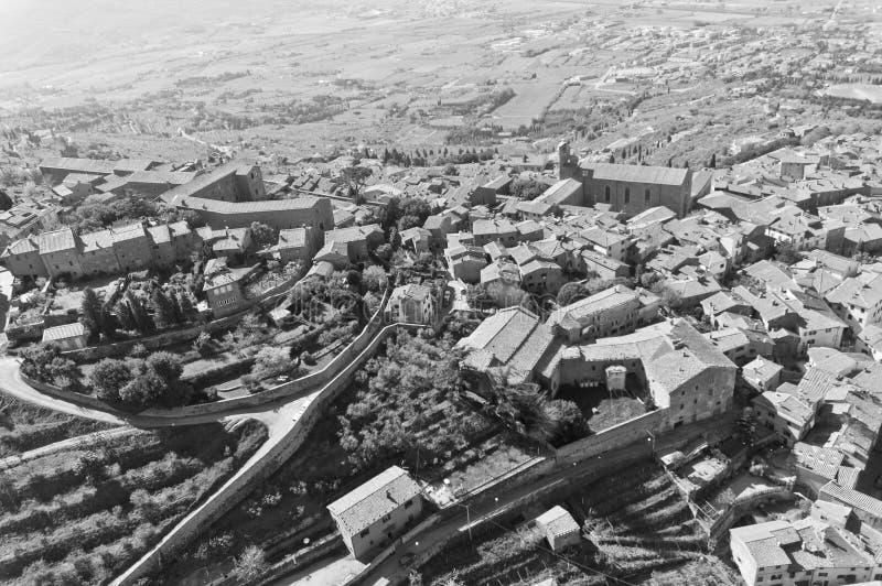 Cortona в Тоскане - Италии стоковые фотографии rf