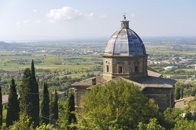 cortona церков историческое стоковое изображение