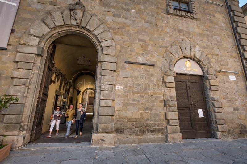 Cortona, Arezzo Tuscany, Włochy, - obraz stock