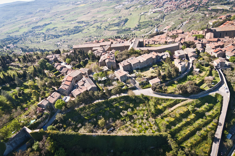 Cortona en Toscane - en Italie photo stock