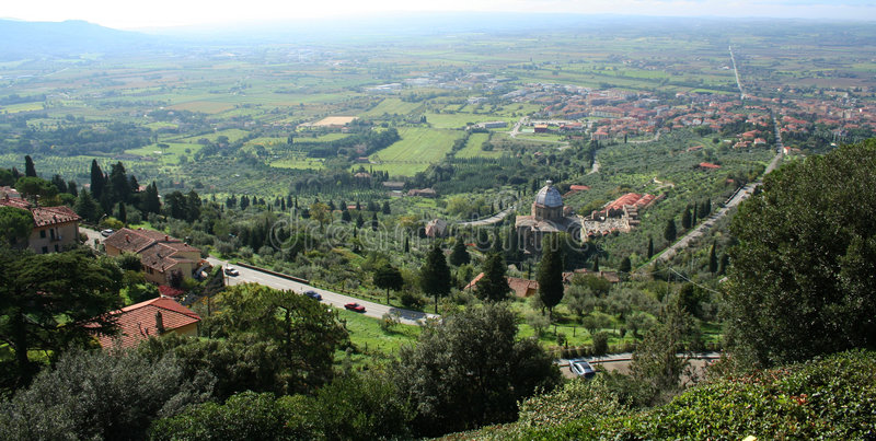 cortona Italy miasteczko Tuscany zdjęcie royalty free