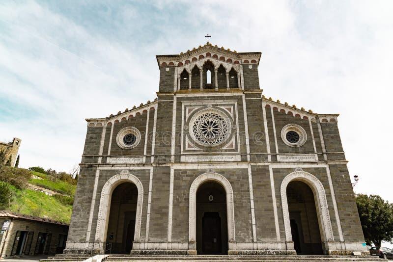 Cortona Toscana del margherita de di santa de la basílica fotos de archivo
