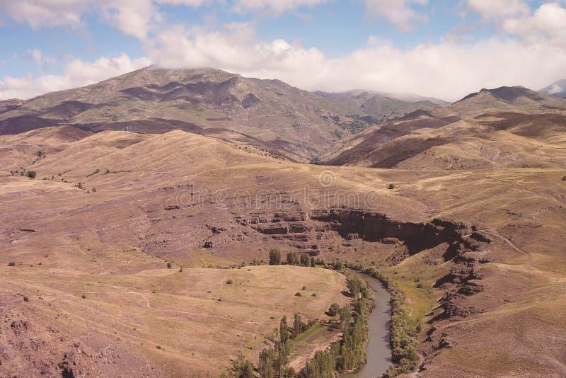 Coruh River at Kop Mountain in Bayburt. Coruh River at Kop Mountain in Bayburt; Turkey royalty free stock image