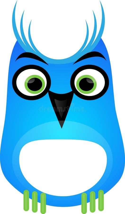 Coruja azul ilustração do vetor
