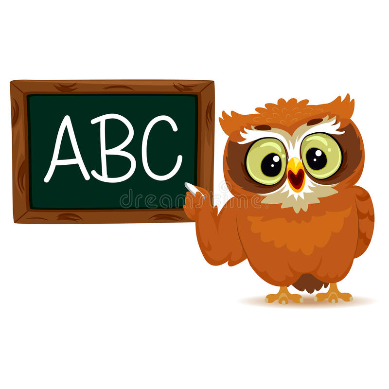 Coruja como um professor ilustração stock