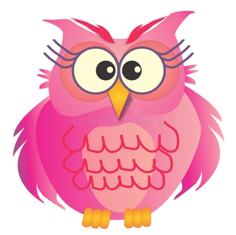 Coruja cor-de-rosa fotos de stock