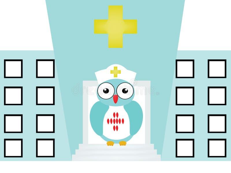 Coruja da enfermeira imagem de stock royalty free