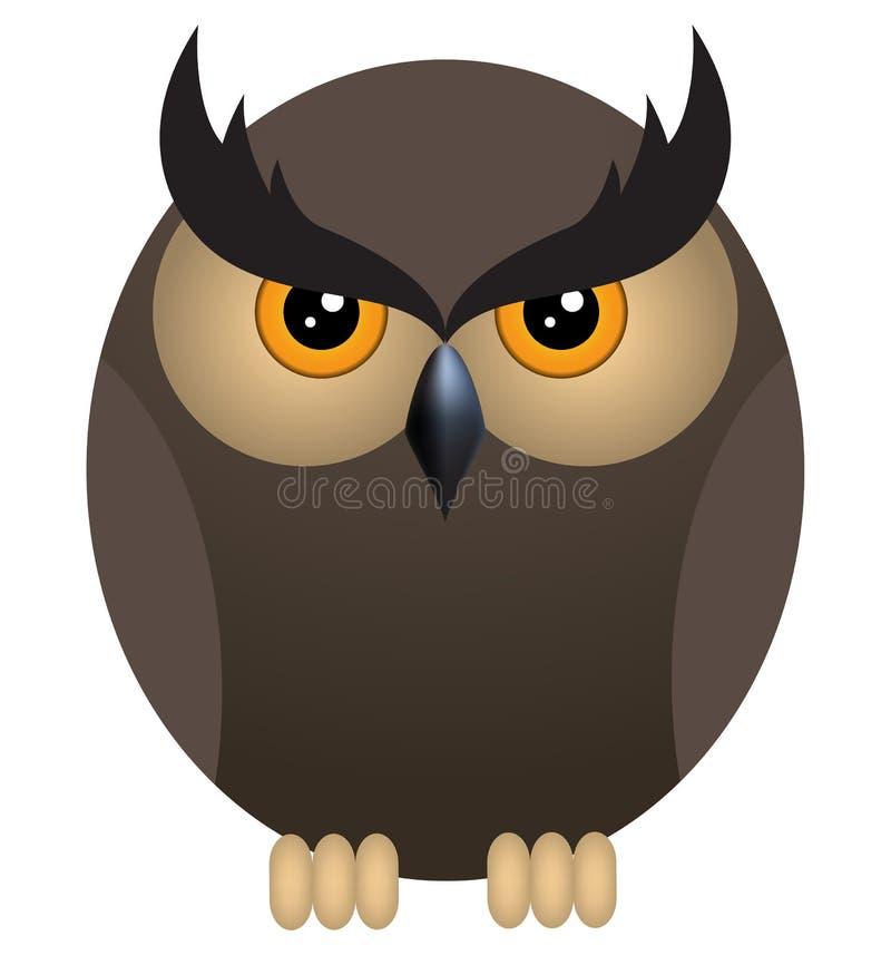Download Coruja irritada ilustração do vetor. Ilustração de selvagem - 26523362