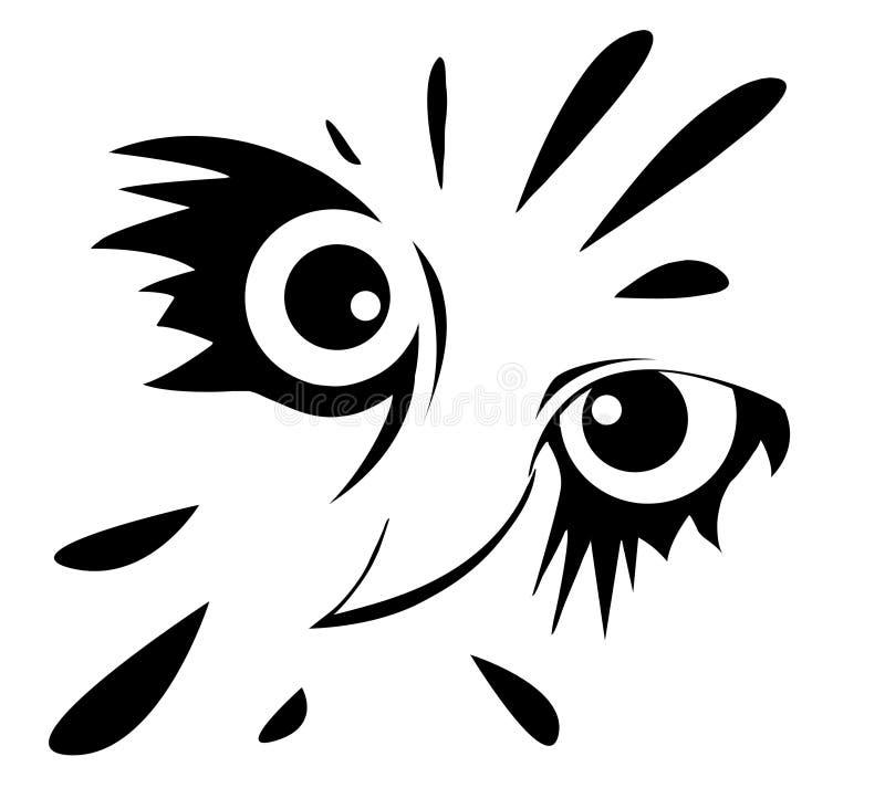 Coruja no fundo branco ilustração stock