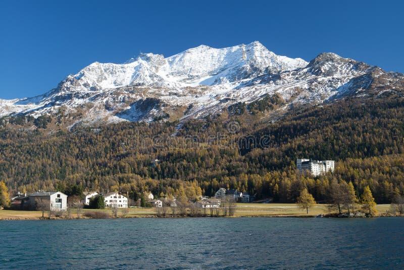 Corvatsch berg i St Moritz royaltyfri fotografi