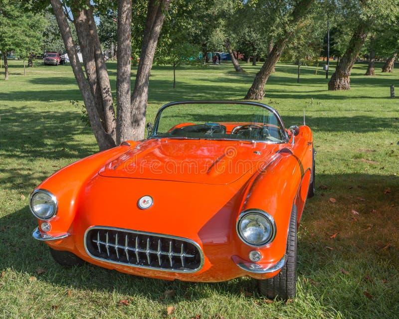 Corvette 1956-57 à la croisière de rêve de Woodward images stock