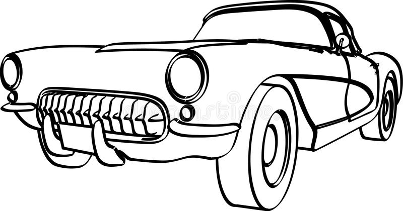 corvette 1956 illustration de vecteur