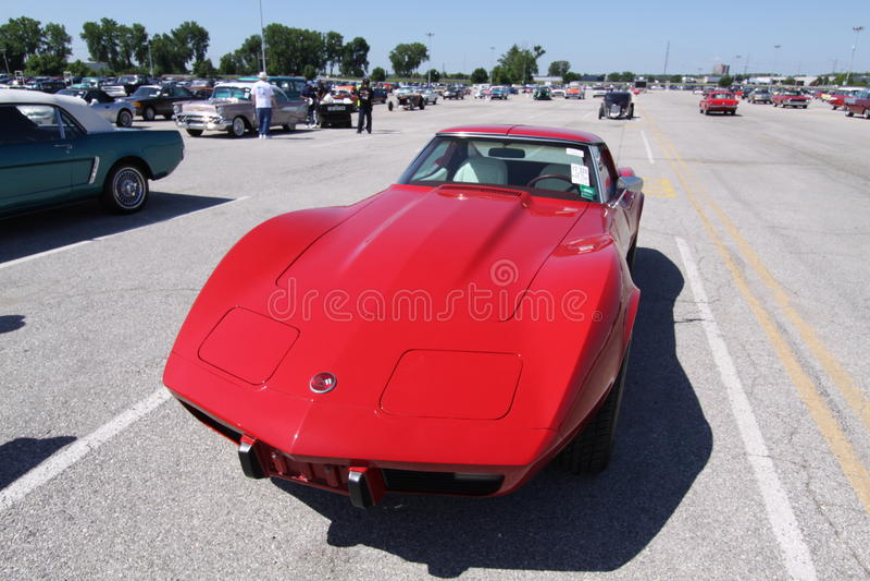 corvette coupestingray royaltyfri foto