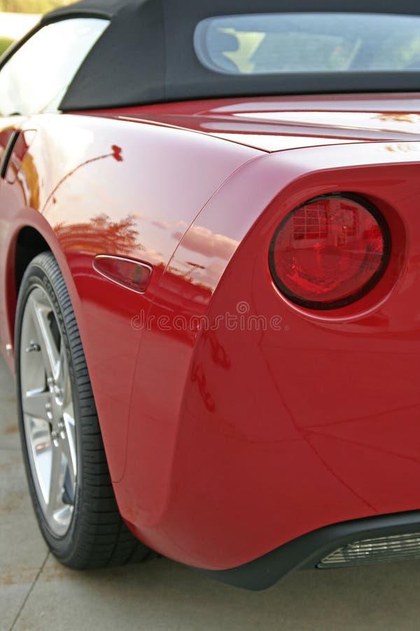 Corvette rear view royalty free stock image