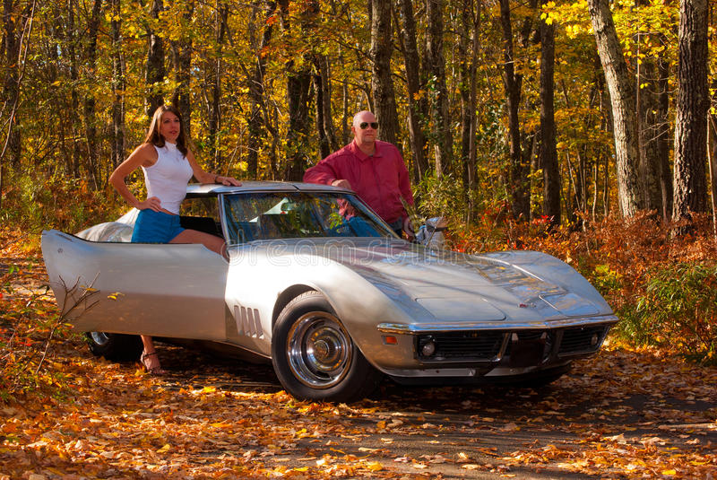 1969 Corvette Stingray in Autumn Colors stock images