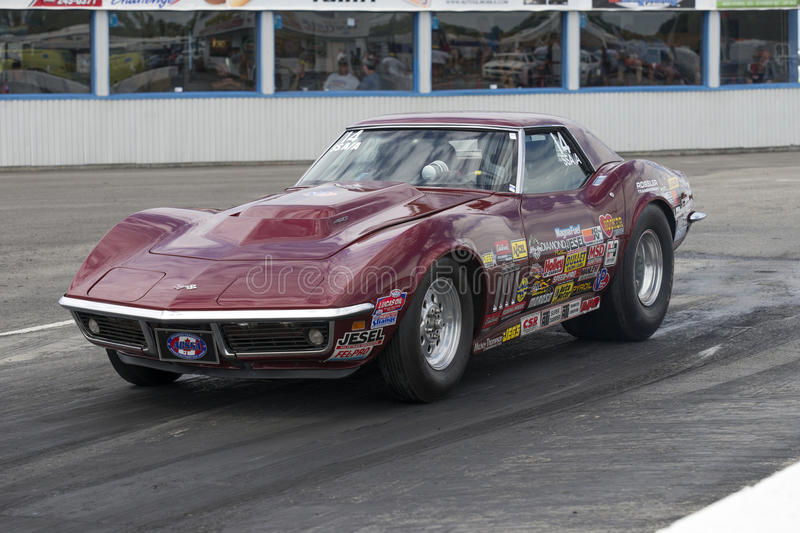 Corvette on the track stock images