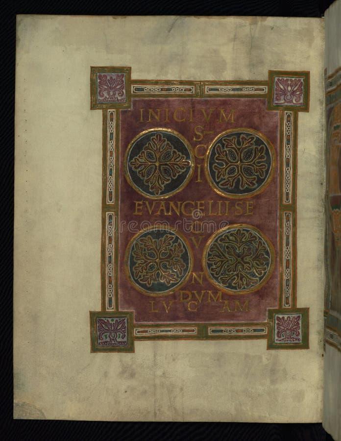 Corvey Gospel Fragment, Incipit Luke's Gospel, Walters Art Museum Ms. W.751, Fol. 1v Free Public Domain Cc0 Image
