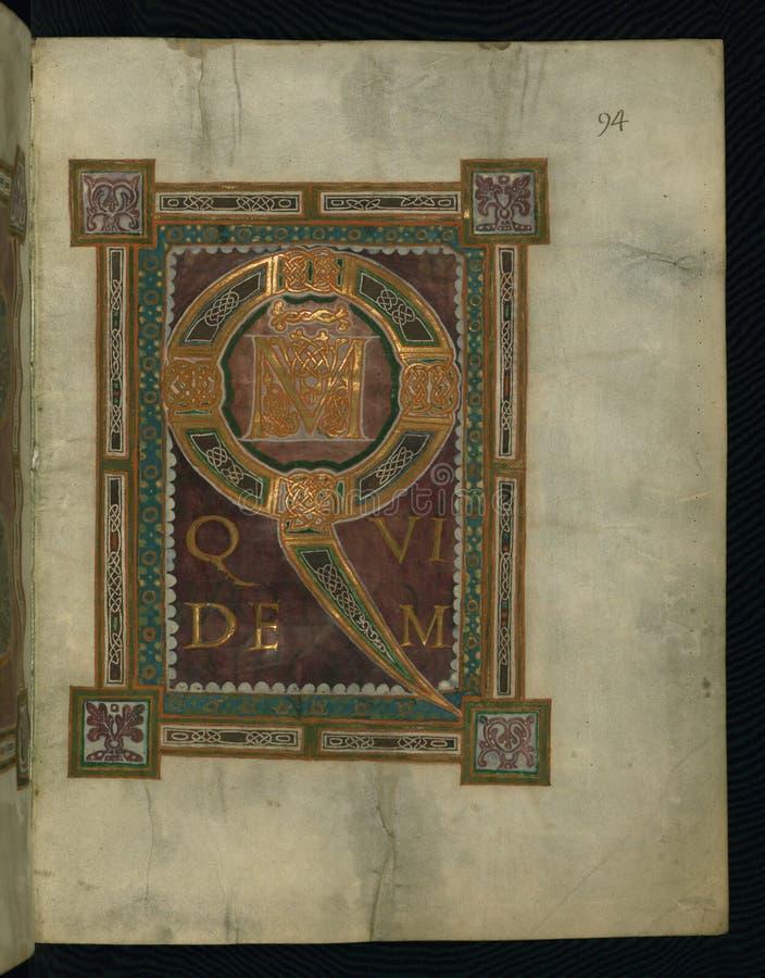 Corvey Gospel Fragment, Initial Page Luke's Gospel, Walters Art Museum Ms. W.751, Fol. 2r Free Public Domain Cc0 Image