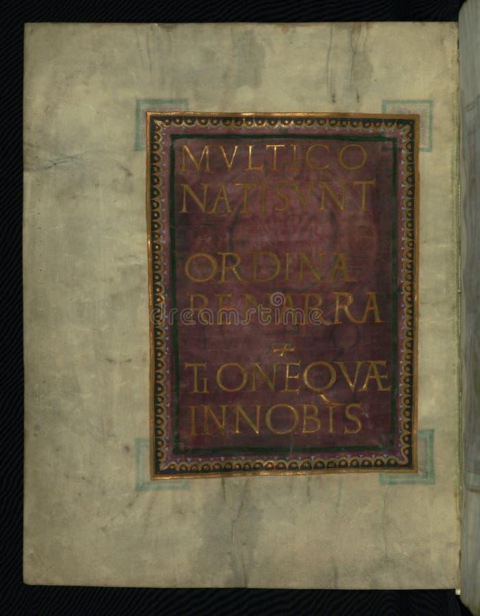 Corvey Gospel Fragment, Page From Luke's Gospel, Walters Art Museum Ms. W.751, Fol. 2v Free Public Domain Cc0 Image