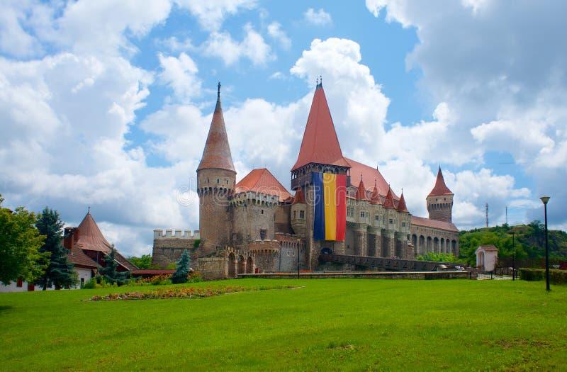 Corvin城堡、Hunyadi或者胡内多阿拉在罗马尼亚 免版税图库摄影