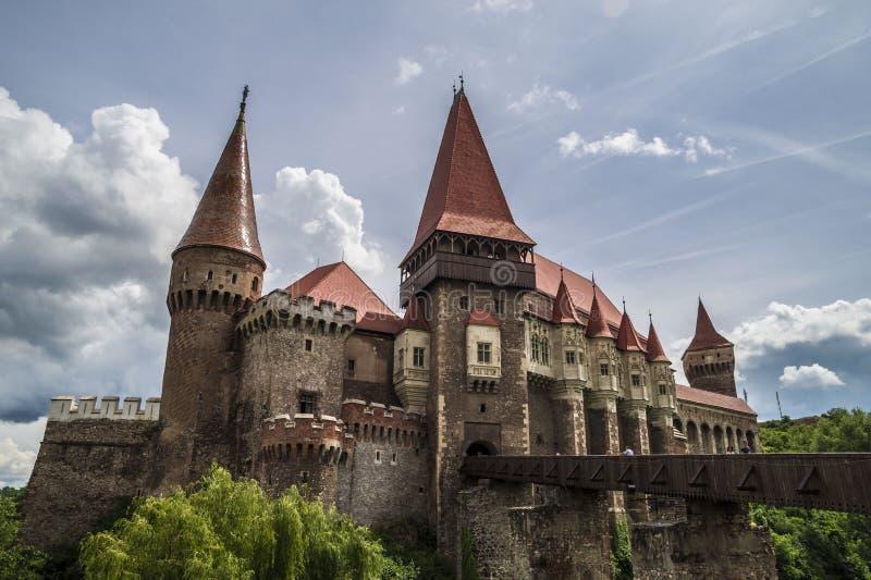 Corvin城堡在胡内多阿拉,罗马尼亚 免版税库存照片